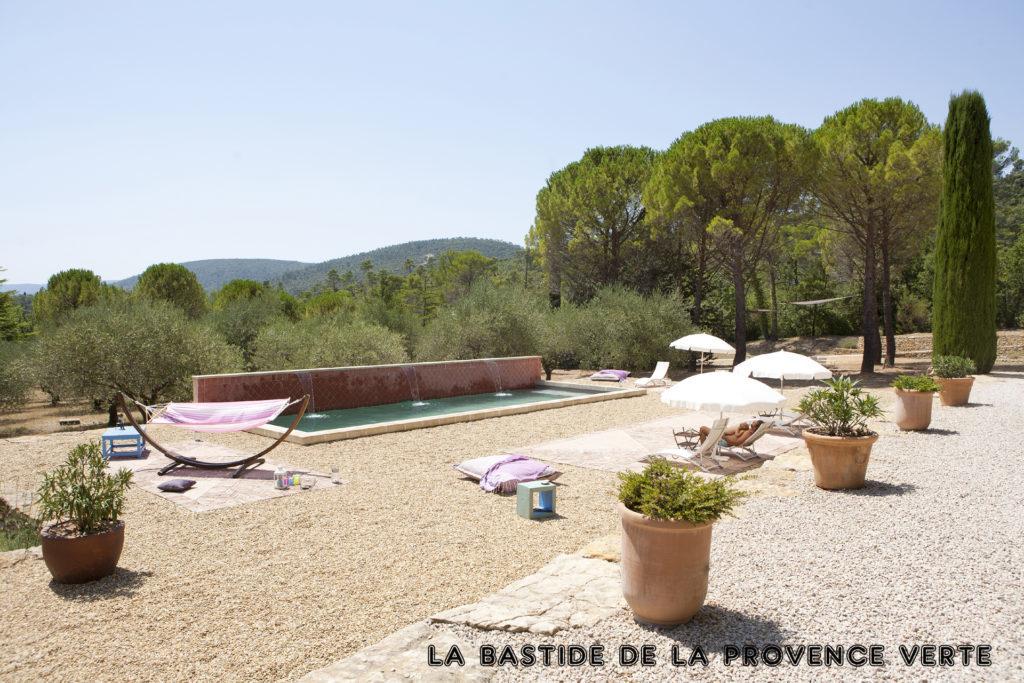 chambre d'hôtes de charme piscine Provence velo