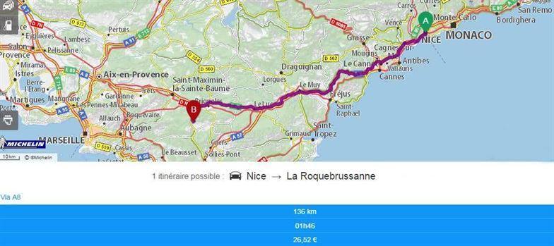 accès Gite de charme Provence