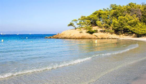belle plage var provence porquerolles courtade