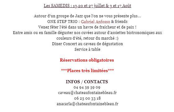 samedi concert musique en Provence 2019