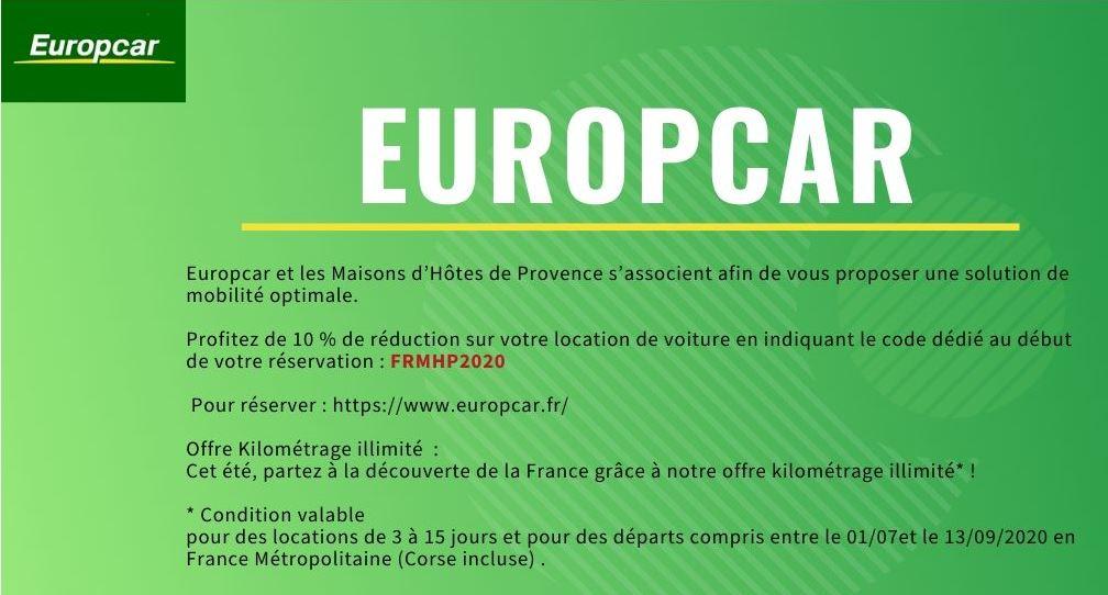 Europcar, partenaire afin de faciliter vos vacances